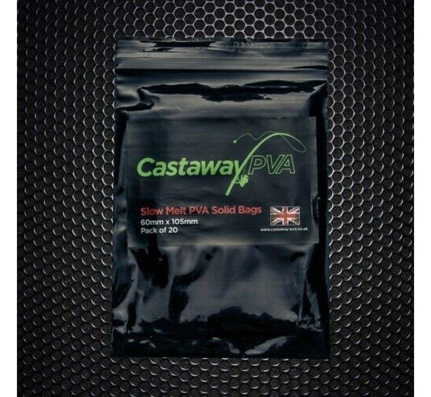 60mm x 105mm Solid Bags   x25   Castaway