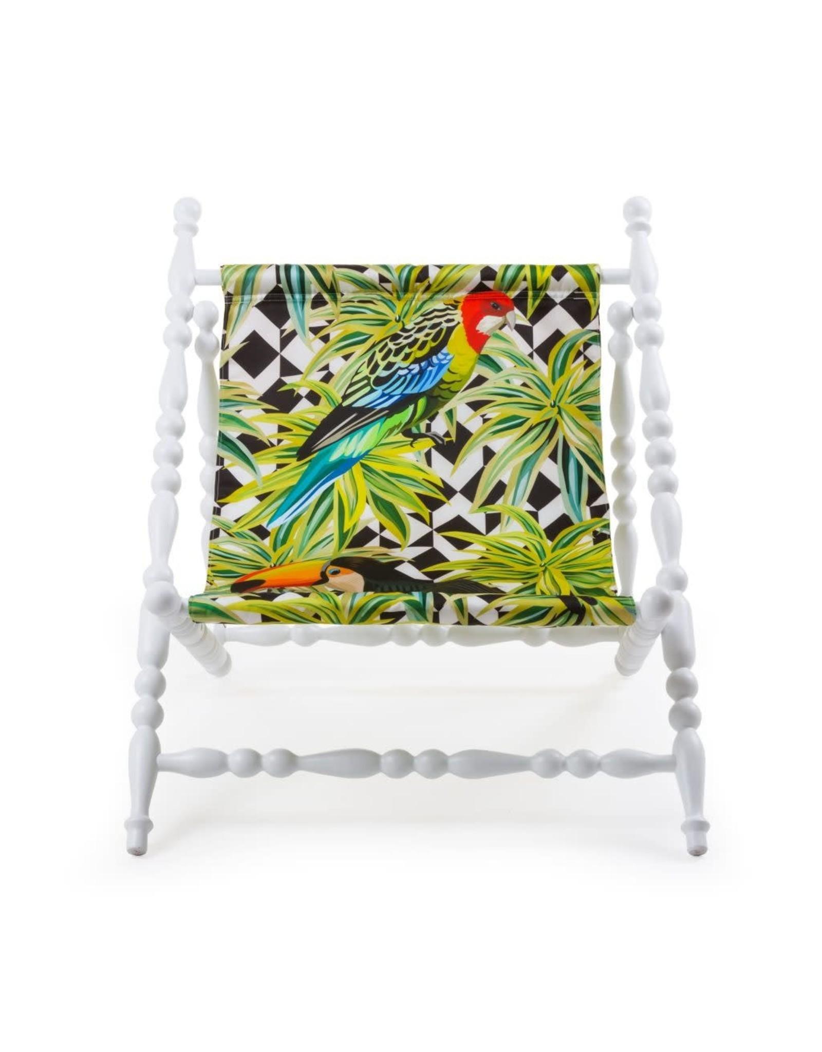 Seletti SELETTI - Heritage Deckchair Parrots