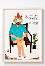 Kelly Puissegur Kelly Puissegur - Eat your face (incl. Lijst zwart)