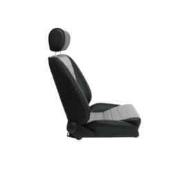 BF-Torino BF LeMans Kunstleder schwarz - Sitzfläche Pepita