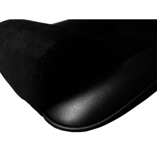 BF-Torino BF stoel silverstone skai ribcord zwart
