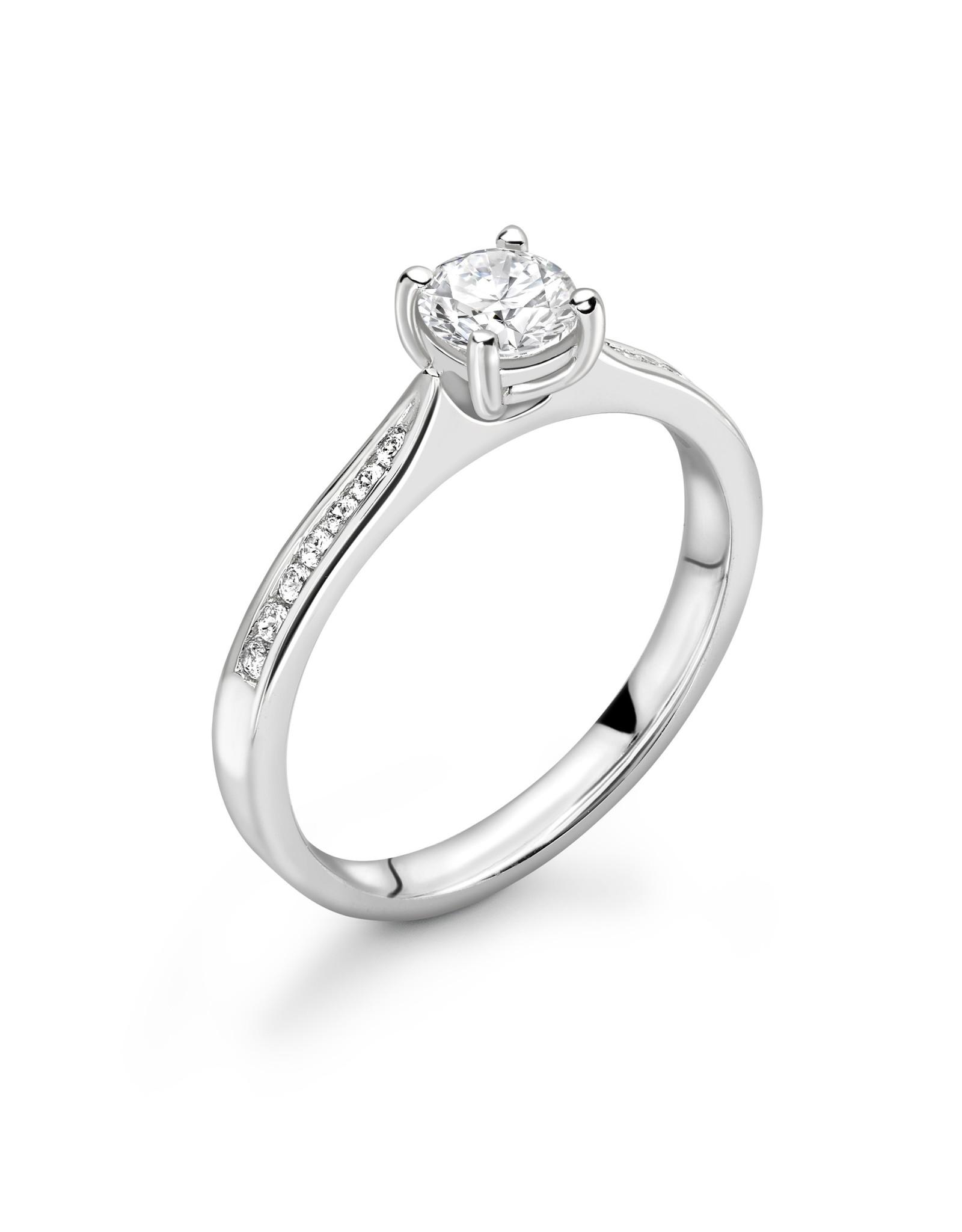 Verlovingsring Met Zijsteentjes LVNRX3090
