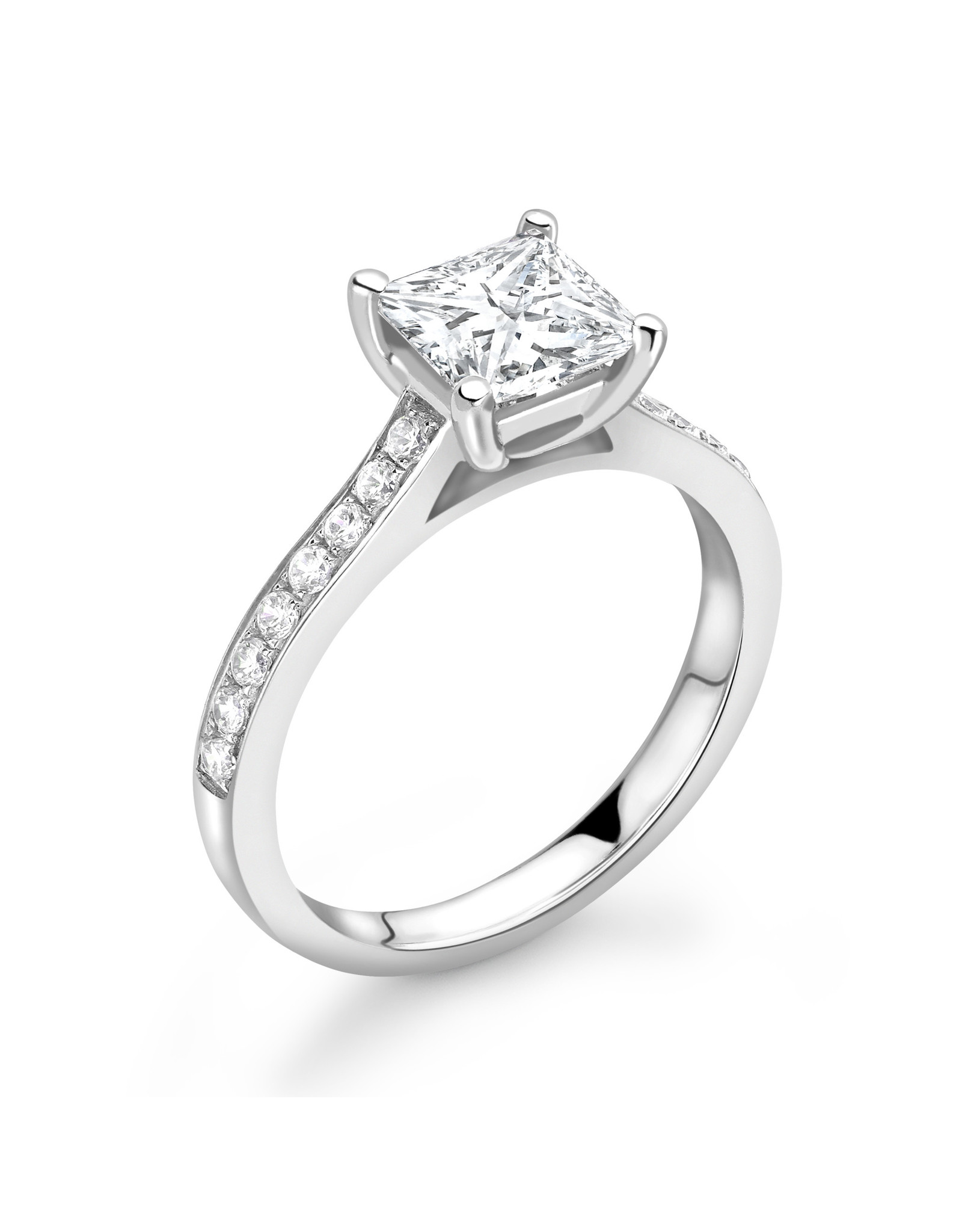 LVN Princesse Verlovingsring Met Zijsteentjes LVNRX6688