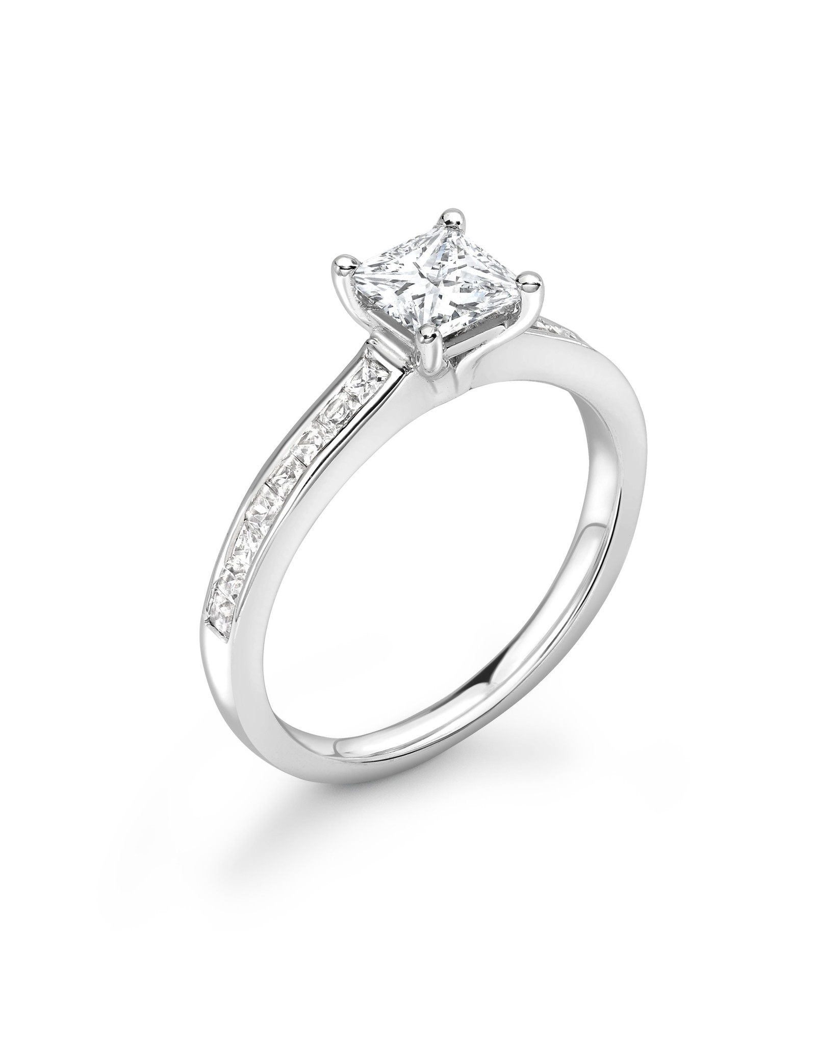 LVN Princesse Verlovingsring Met Zijsteentjes LVNRX3120