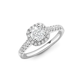 LVN Cushion Cut Exclusive Verlovingsring LVNRX4333
