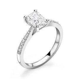 LVN Emerald Cut Verlovingsring Met Zijsteentjes LVNRX5495