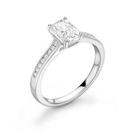 LVN Emerald Cut Verlovingsring Met Zijsteentjes LVNRX3980