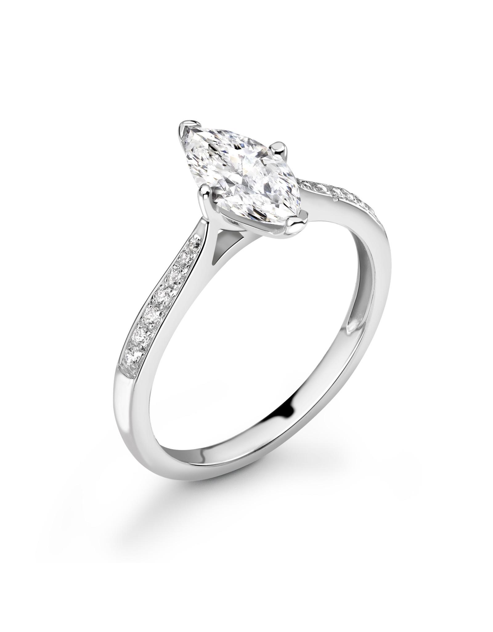 LVN Marquise Cut Verlovingsring Met Zijsteentjes LVNRX4671