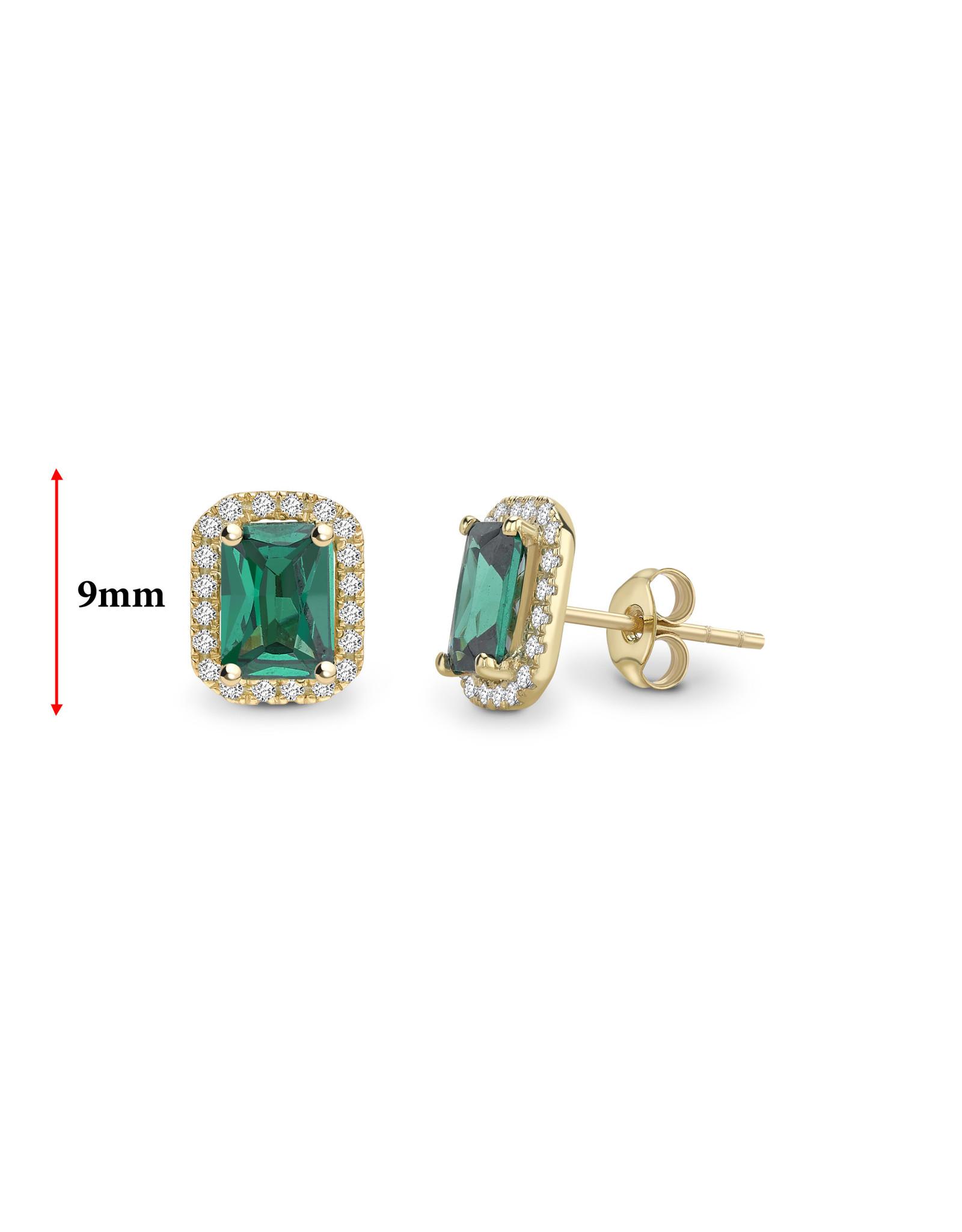 LVN Emerald Shape Oorbellen Met Halo LVNEX4415