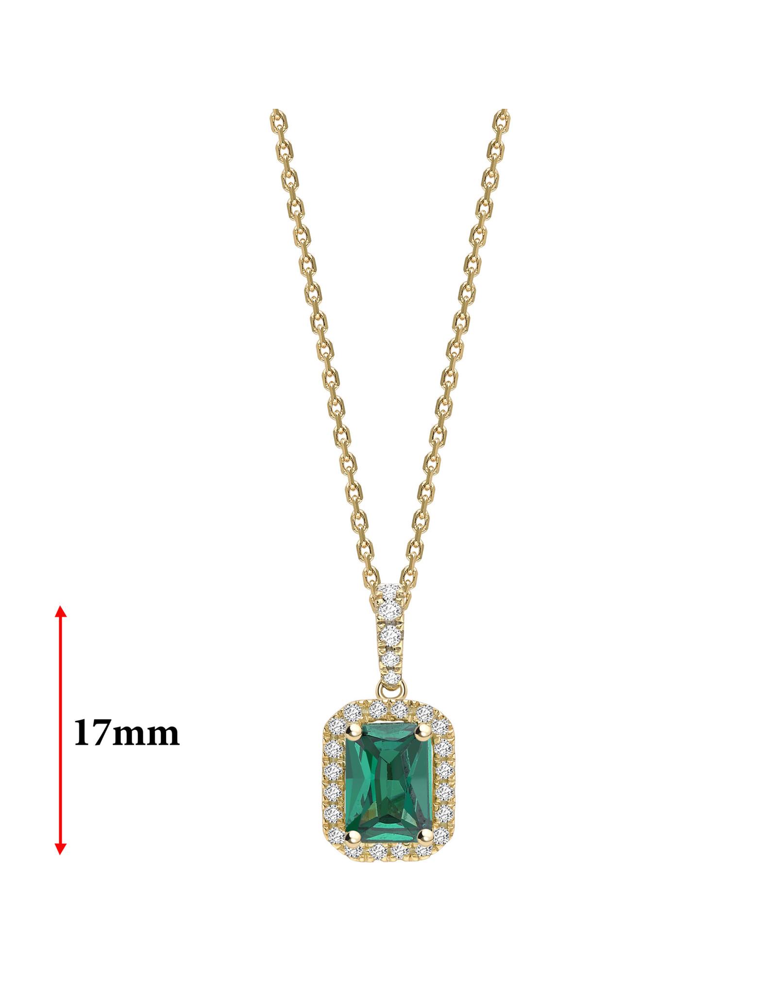 LVN Emerald Shape Hanger Met Halo LVNPX4781