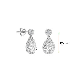 LVN Pear Shape Oorbellen Met Halo LVNEX5972