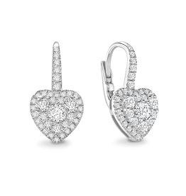 LVN Heart Shape Oorbellen Met Halo LVNEX8274