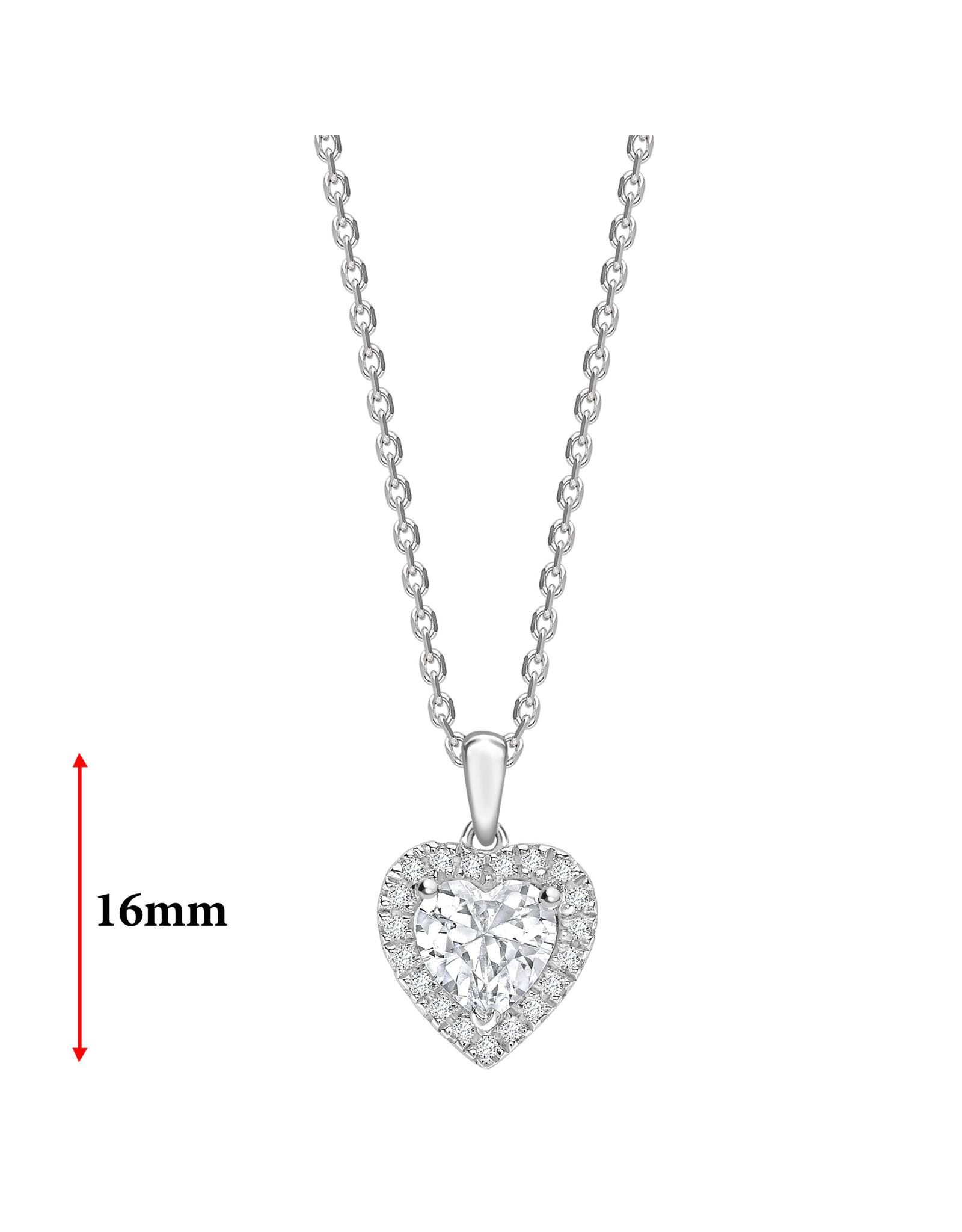 LVN Heart Shape Hanger Met Halo LVNPX5870