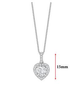 LVN Heart Shape Hanger Met Halo LVNPX4370