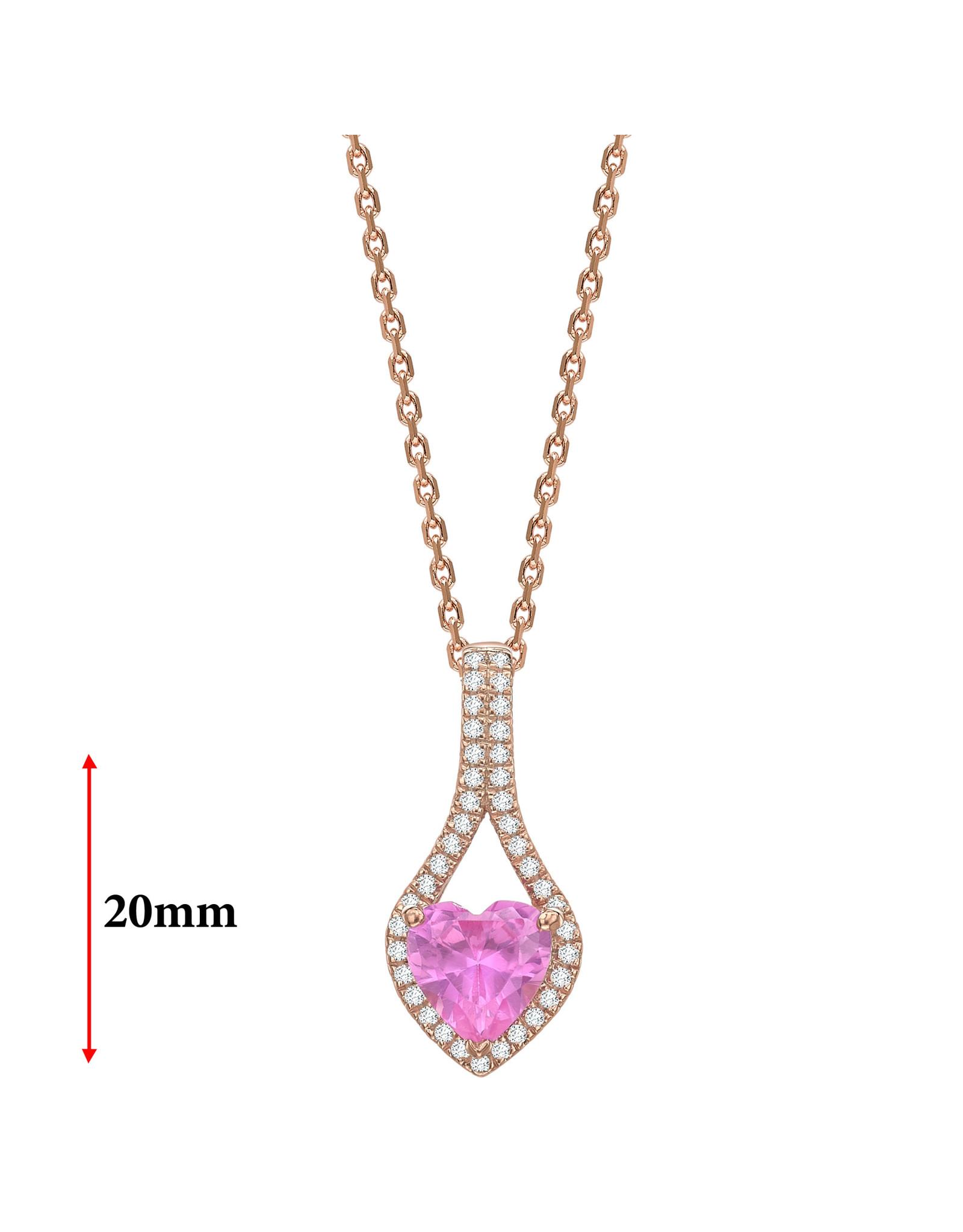 LVN Heart Shape Hanger Met Halo LVNPX8143