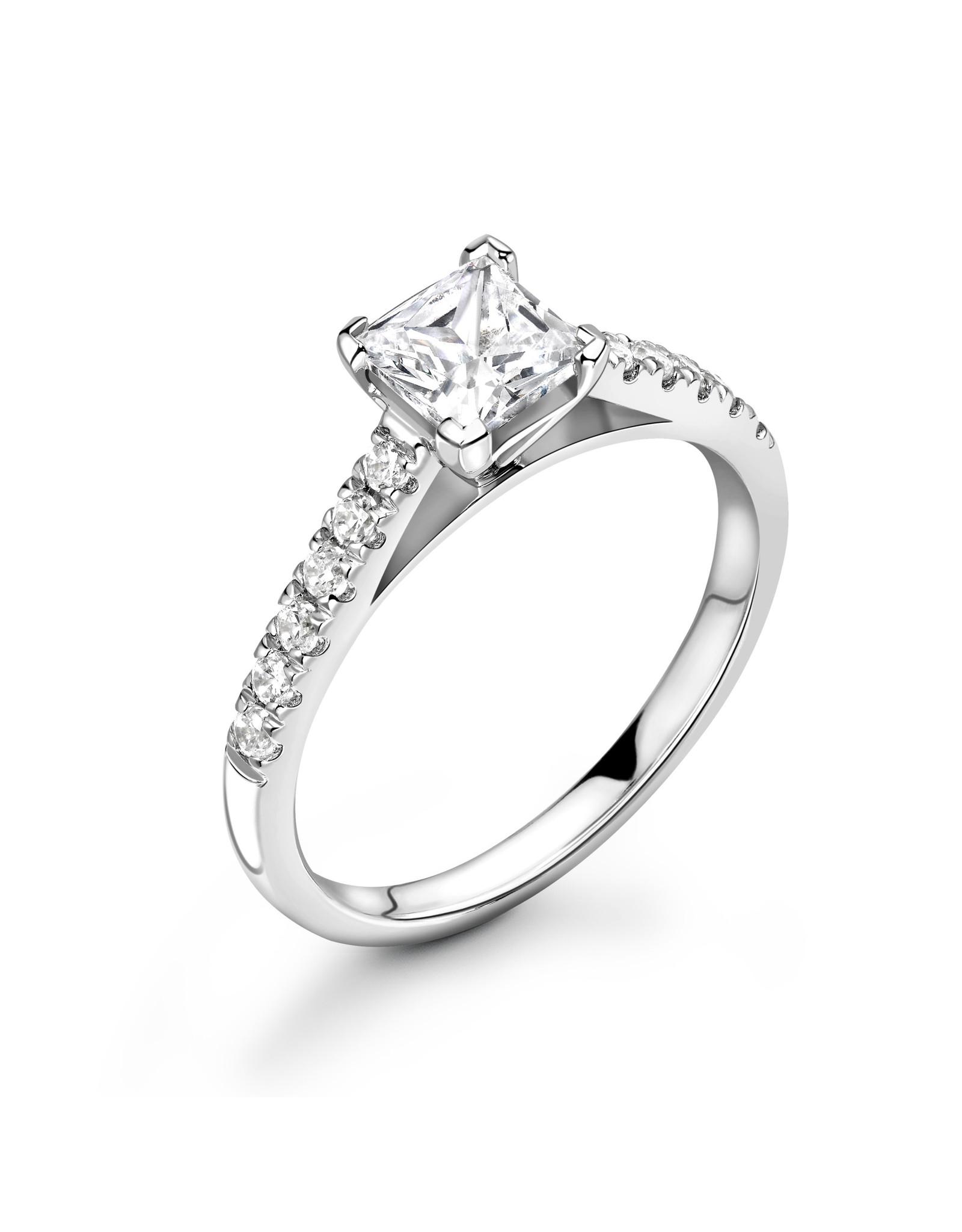 LVN Princesse Verlovingsring Met Zijsteentjes LVNRX5356s