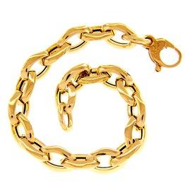 LVN Schakel Armband Geel Goud 20cm