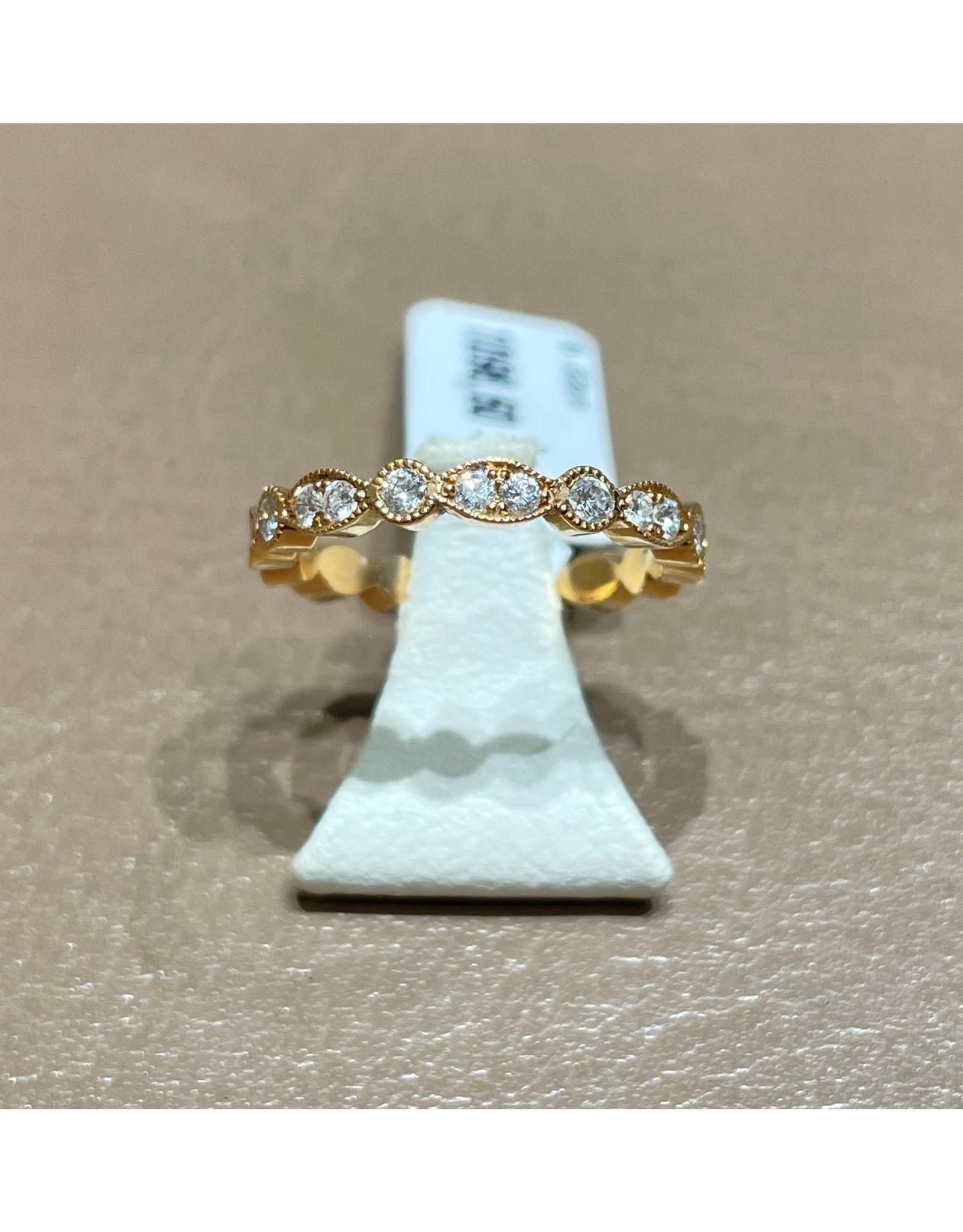 "Ring ""Millegrain"" rondom rond gezet rose gold 1046"
