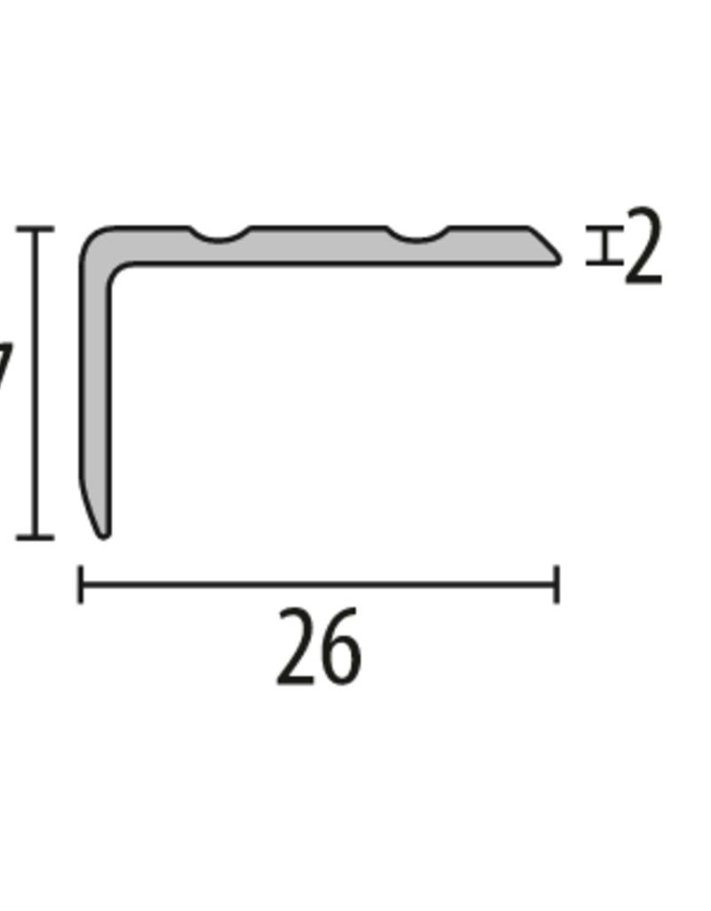 kuberit Kuberit 237 Hoekstrip eenzijdig verzonken, zelfklevend met siergroeven. 17x26mm  Prijs per lengte 270cm