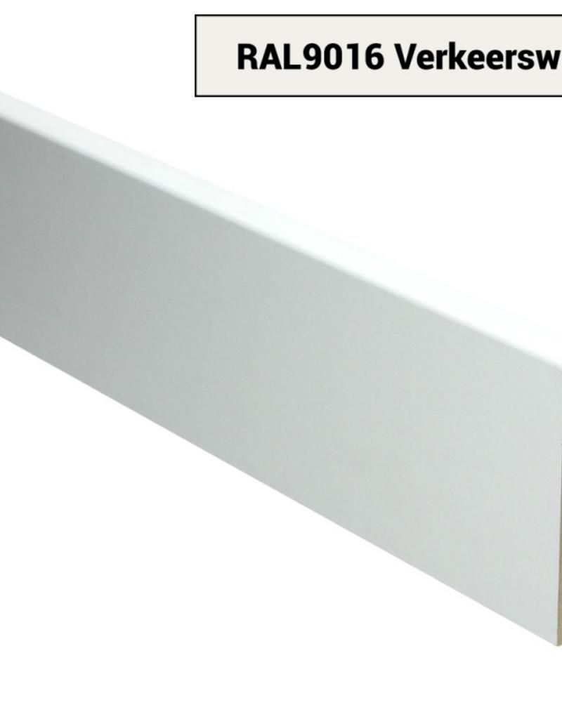 MDF Moderne plint Voorgelakt Ral 9016 Verkeers Wit