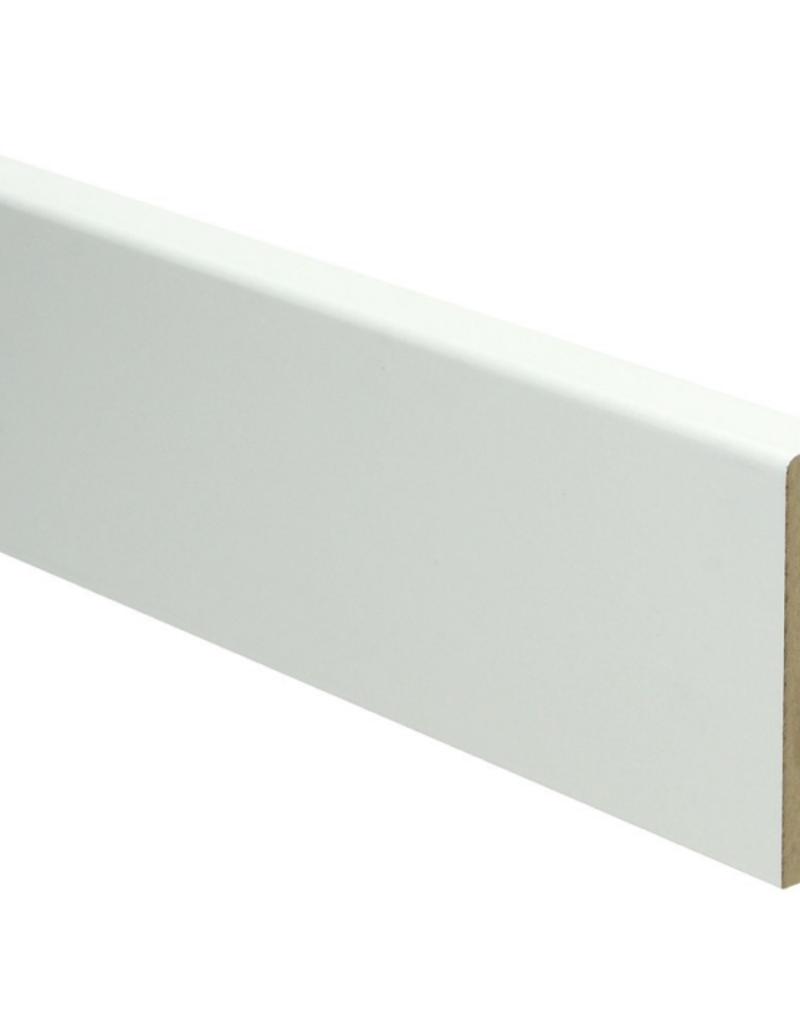 MDF Moderne plint Voorgelakt Ral 9010 Gebroken Wit
