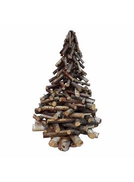 Kerstboom van houten takken