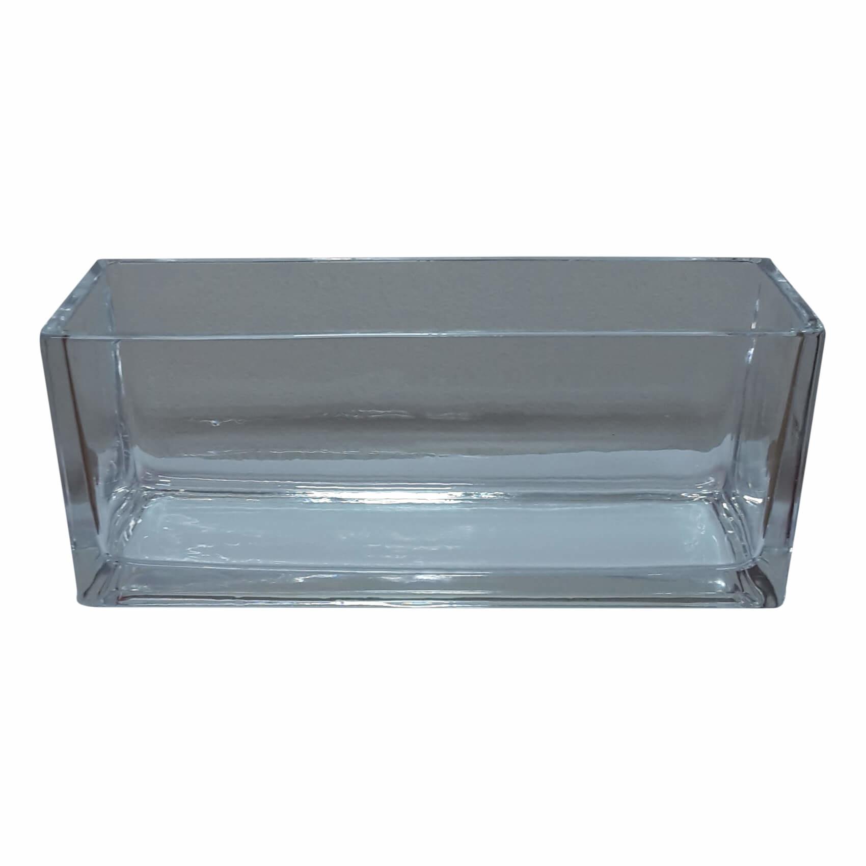 Langwerpige lage glasschaal