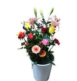 met verschillende rozen