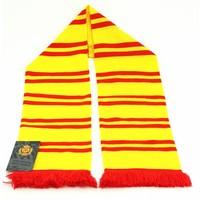 Topfanz Sjaal geel streepjes rood