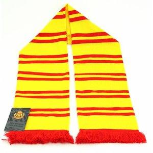 Sjaal geel streepjes rood