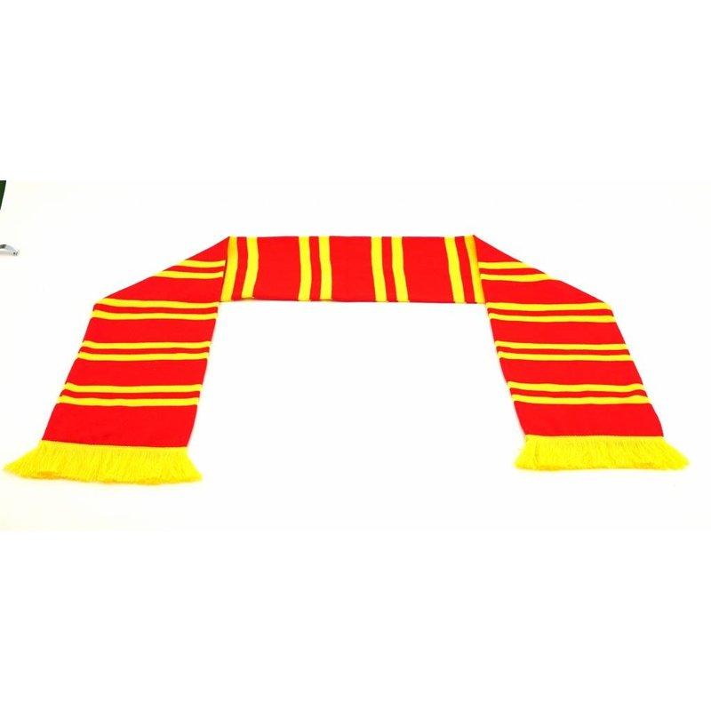 Topfanz Sjaal rood streepjes geel