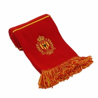 Topfanz Echarpe à blocs rouge- KV Mechelen