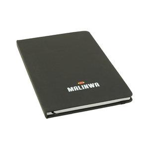 Notitieboekje zwart malinwa en clublied - WKV