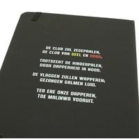 Topfanz Notitieboekje zwart malinwa en clublied - WKV
