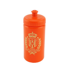 Drink bottle red golden logo