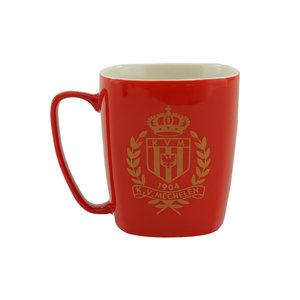 Mok rood logo goud - KVM