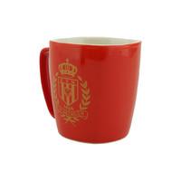 Topfanz Tasse rouge logo d'or
