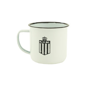 Mug retro metal white