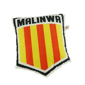 Kussen 3D schild logo Malinwa