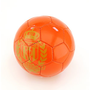 Ballon de foot 5 rouge logo doré