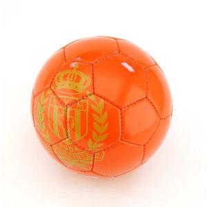 Voetbal maat 5 rood logo goud