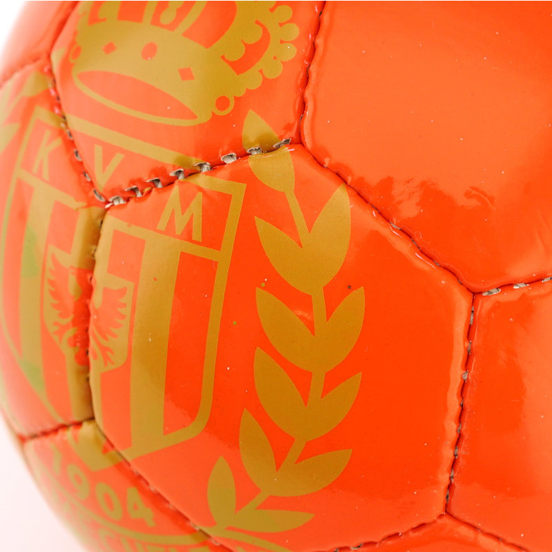 Topfanz Ballon de foot 5 rouge logo doré