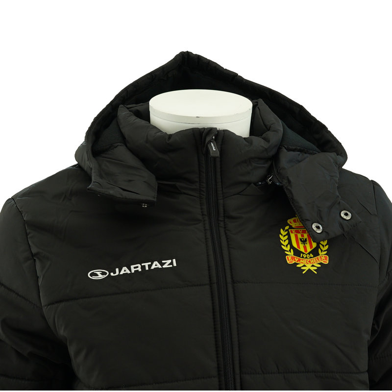Jartazi Coach Jacket with zipp off hoodie Black