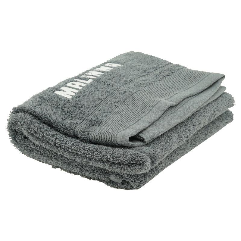 Topfanz Handdoek grijs Malinwa hekje logo