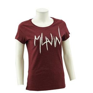 T-shirt wine MLNW witte print vrouw