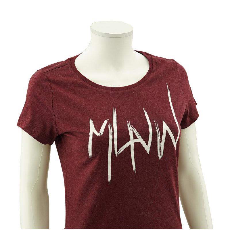 Topfanz T-shirt wine MLNW witte print vrouw