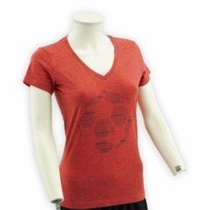 T-shirt vrouwen - Voetbal, KVM (Rood)