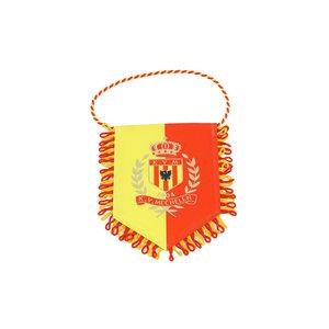 Vaandel - klein geel/rood logo 11x15cm
