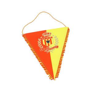 Vaandel - groot geel/rood logo 28x39cm
