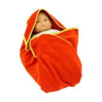 Topfanz Baby badcape rood-geel